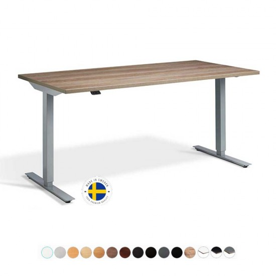 RISE 1 Rectangular Electric Sit Stand Height Adjustable Desk, Dual Motor.1800mm