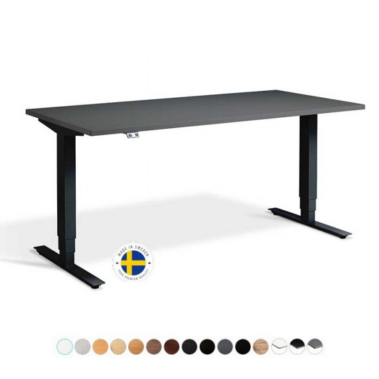 RISE 2 Dual Motor Rectangular Electric Sit Stand Height Adjustable Desk, 1800mm