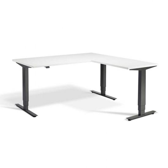 RISE 3 Electric Height Adjustable Corner Standing Desk, 1800x1600mm