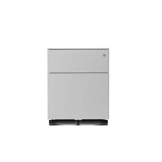 LAGRA 2 Drawer Steel Mobile Office Storage Pedestal
