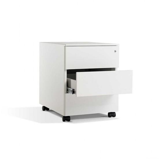 LAGRA 3 Drawer Steel Mobile Office Storage Pedestal