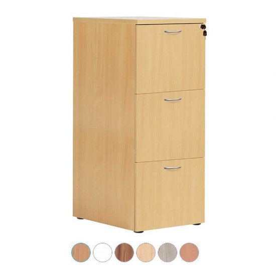 3 Drawer Lockable Wooden Office Filing Cabinet