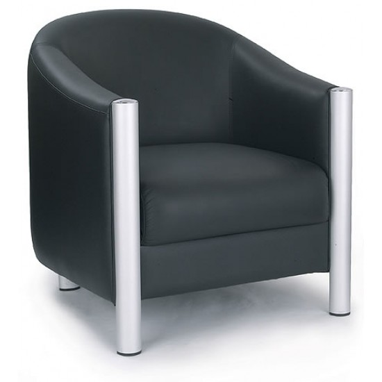 CHELMSFORD - Contemporary Design Leather Tub Reception Chair