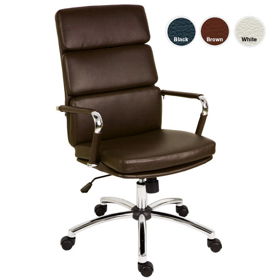 Bellona Brown Designer Eames Style Faux Leather Office Chairs T Bell Br