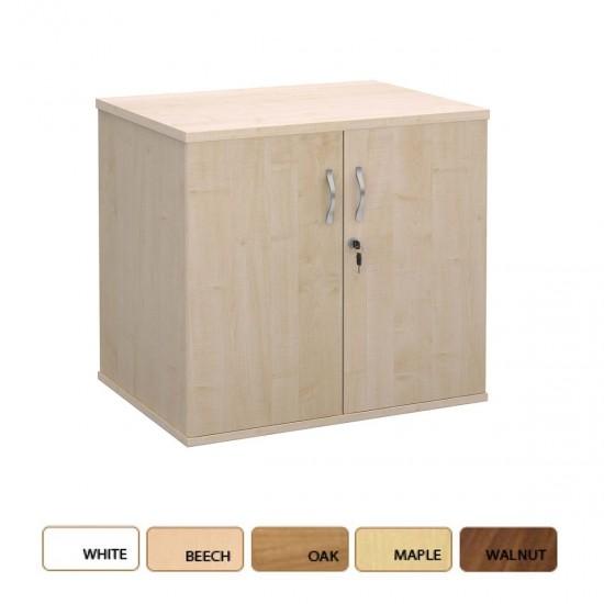 DELUXE Desk High 600mm Deep Wooden Office Storage Cupboard