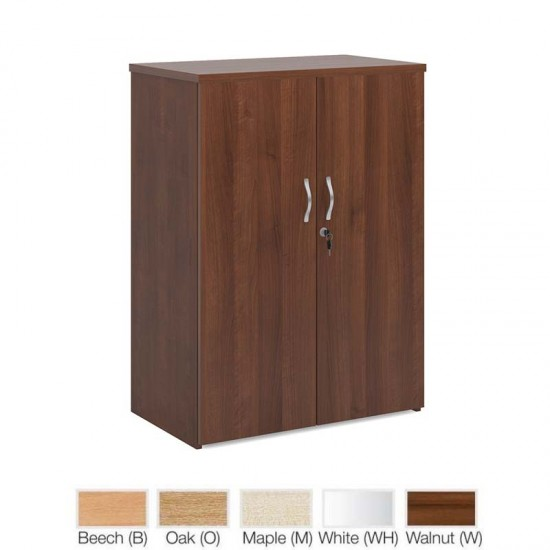 DELUXE 1 Shelf Lockable Office Storage Cupboard 1090mm High x 800mm