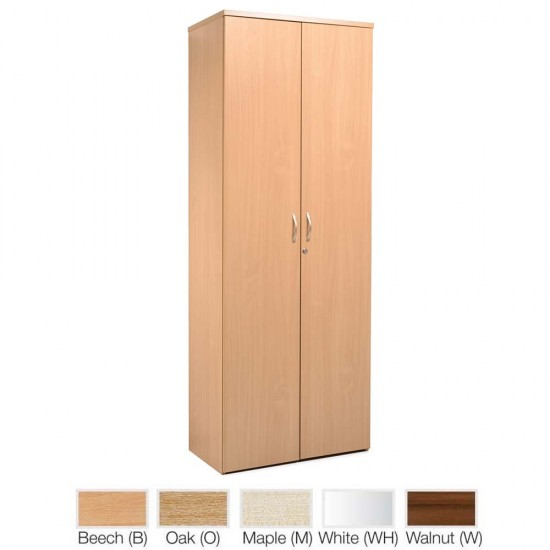 DELUXE Full Height 2140mm Wooden Office Storage Cupboard