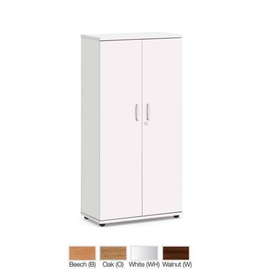 1600mm High Lockable Office Storage Cupboard with 3 Shelves