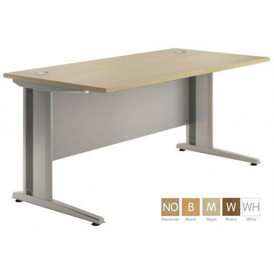 GEO-3 Rectangular Office Desk with Cable Managed Leg, NATURAL finishes