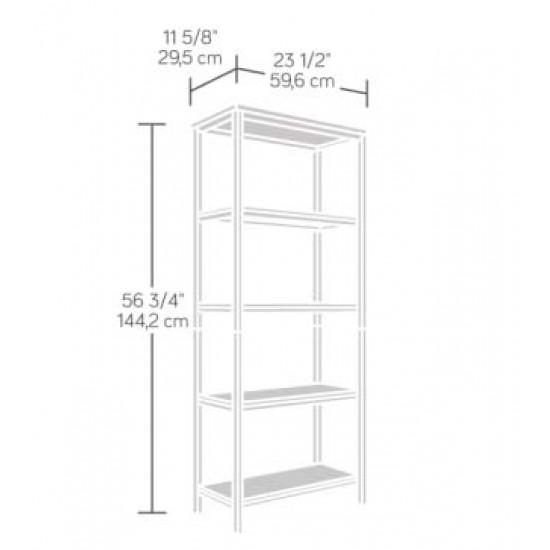 GRAFFIK 4 Shelf Industrial Style Tall Bookcase