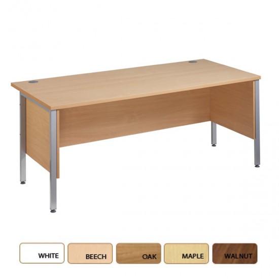 MISTRAL Silver Leg Office Bench Desk 1200x800mm