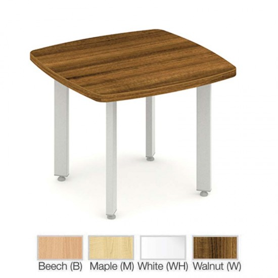 PACIFIC 600mm Square Wooden Coffee Table White, Walnut, Maple, Beech, Oak