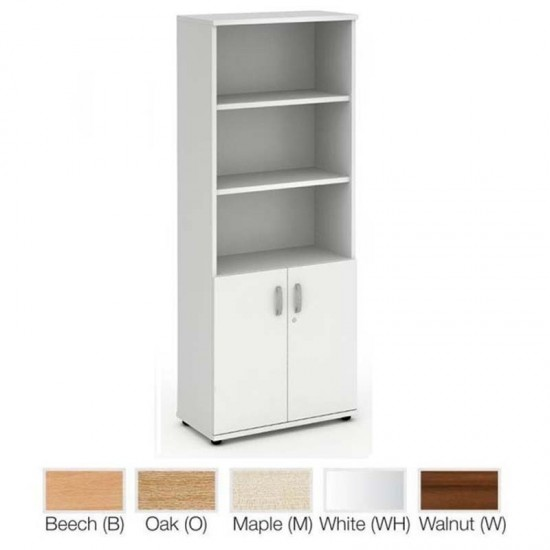 PACIFIC 2000mm High Open Shelf Cupboard with 2 Shelves