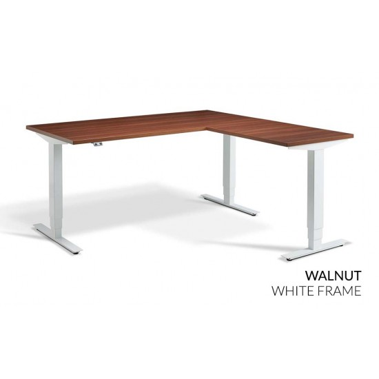 RISE 3 Electric Sit Stand Height Adjustable Corner Desk, 1600x1600mm