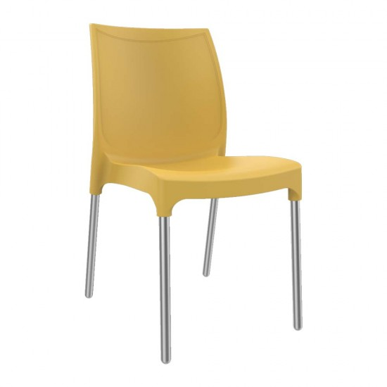 BARCA Contemporary Indoor/ Outdoor Cafe Dining Chairs in Bright Colours