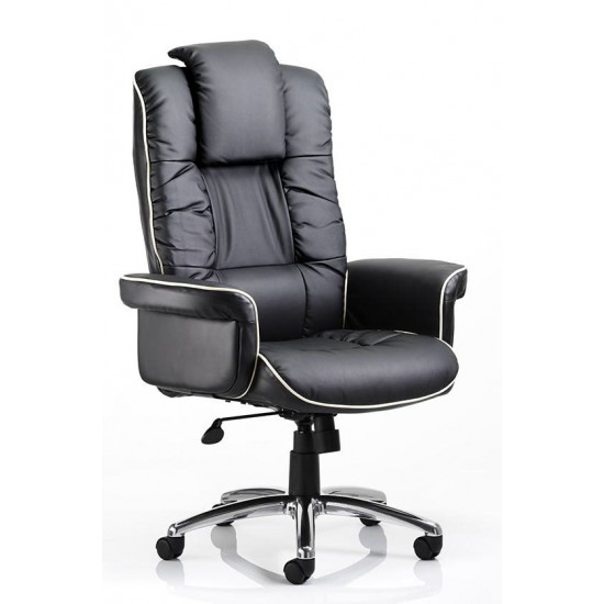 Cannes Wide Gull Wing Executive Leather Office Chairs