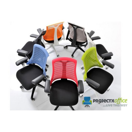 CITRO Contemporary Ergonomic Office Chair with BLACK Backrest
