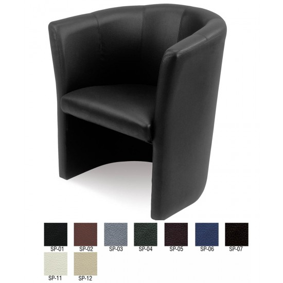 CLUB Classic Leather Tub Chair in Various Leather Colours