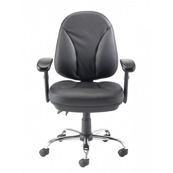 CRUZ Medium Back Leather Faced Ergonomic Office Chairs