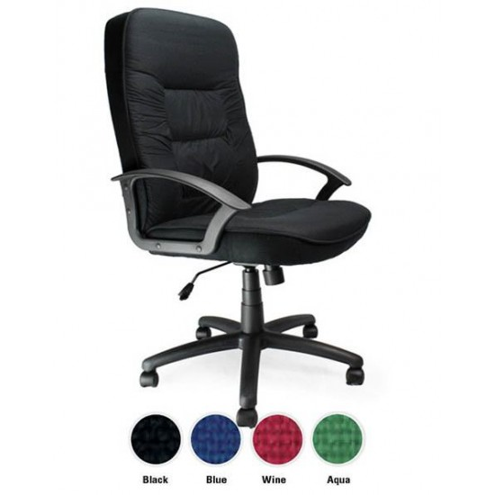 DRESDEN High Back Wide Seat Fabric Executive Office Chair