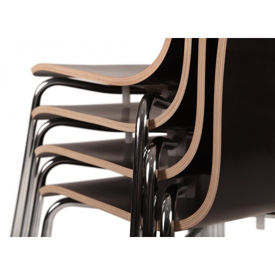 DUOMO Stylish Stackable Cafe Bistro Chairs