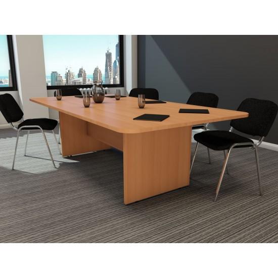 ENGLEWOOD 2400mm Modern Rectangular Boardroom/ Meeting Table in Beech
