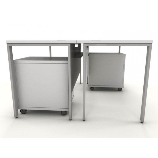 ENGLEWOOD White Under Desk Narrow Mobile Storage Pedestal