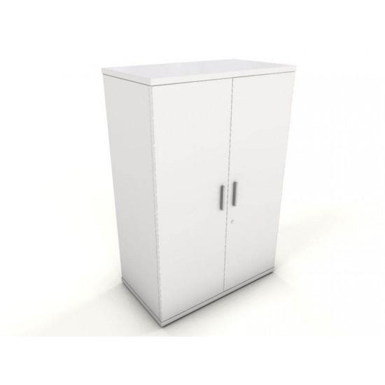 ENGLEWOOD White 1.2m Medium Height Storage Cupboard