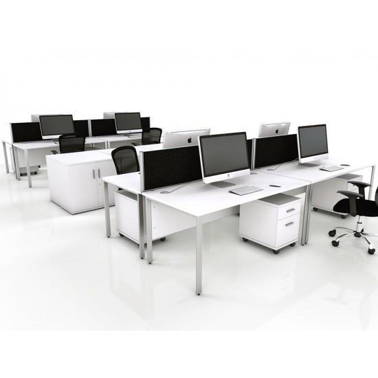 ENGLEWOOD Modern White Office Bench Desks