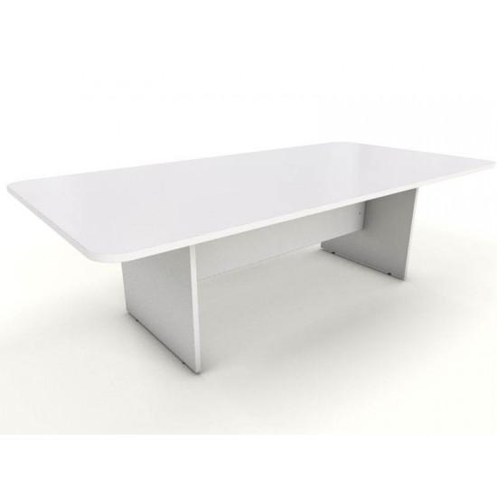 ENGLEWOOD White Rectangular Boardroom Meeting Table 2400mm