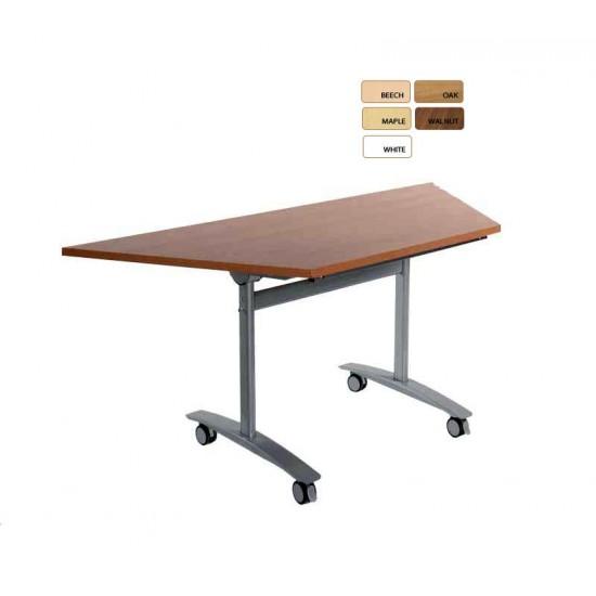 FLIPTOP Modular Trapezoidal Folding Conference Tables 1600x800x694mm