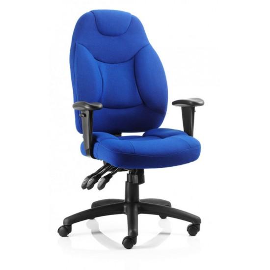 POLARIS FABRIC High Back Ergonomic Executive Office Chairs, Blue