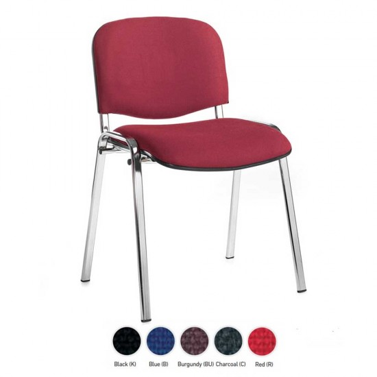 GEMINI Stackable Conference/ General Purpose Chairs, Chrome Frame