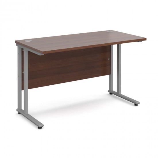 MISTRAL Silver Cantilever Leg Office Desk 1200x600mm