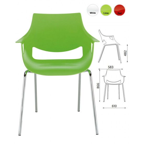 FANO Contemporary Cafe Bistro Chairs in Bright Colours
