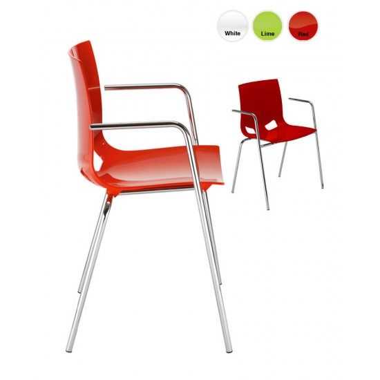 FONDO ARM Modern Cafe Bistro Chair in Bright Colours