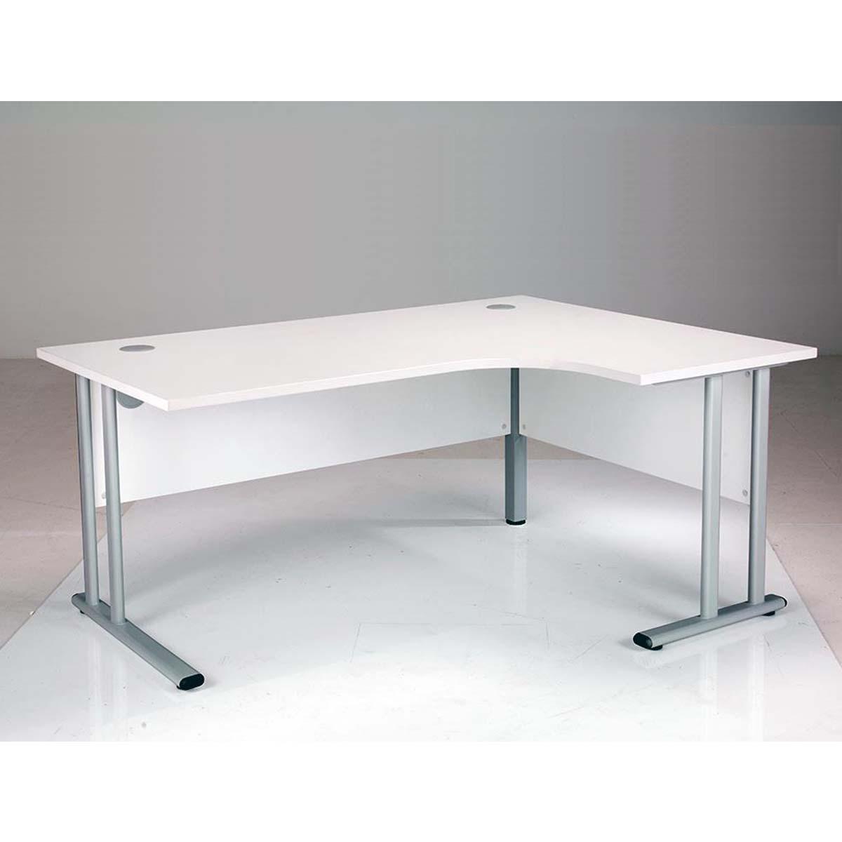 Image of: Oslo Modern White Right Hand Corner Office Desks