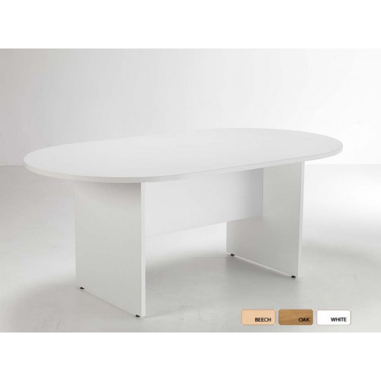 OSLO 2400mm Round End Boardroom / Meeting Room Table