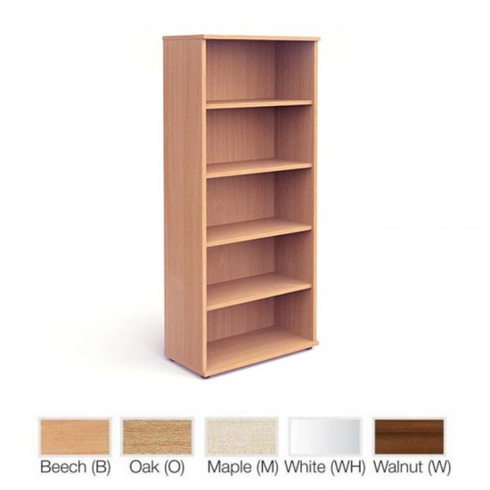PACIFIC 2000mm High Wooden Bookcase with 4 Shelves