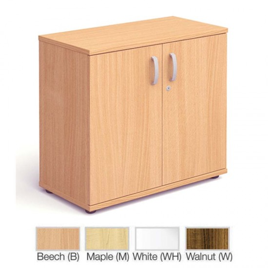 PACIFIC 800mm High Lockable Office Storage Cupboard with 1 Shelf