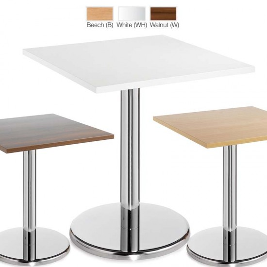 PESCARA Square Cafe Bistro Tables in Beech White Walnut