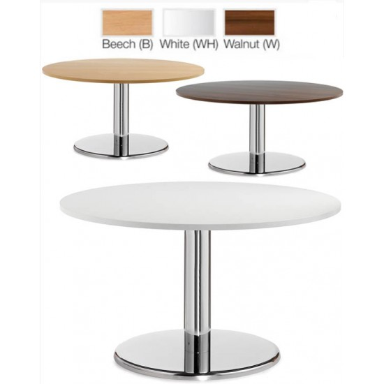 PESCARA Round Coffee Tables in Beech, White, Walnut