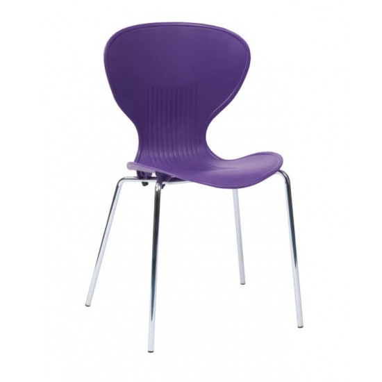 ROCCO Modern Stacking Cafe Bistro Chair in Vibrant Colours
