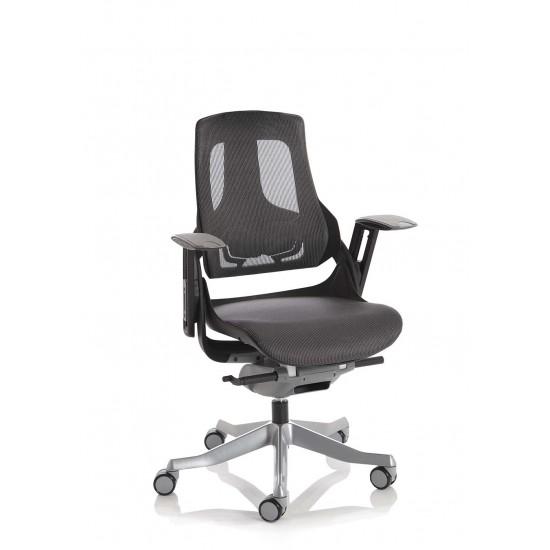 STORM-MK2 Dark Grey Mesh Ergonomic Office Chair - Black Shell