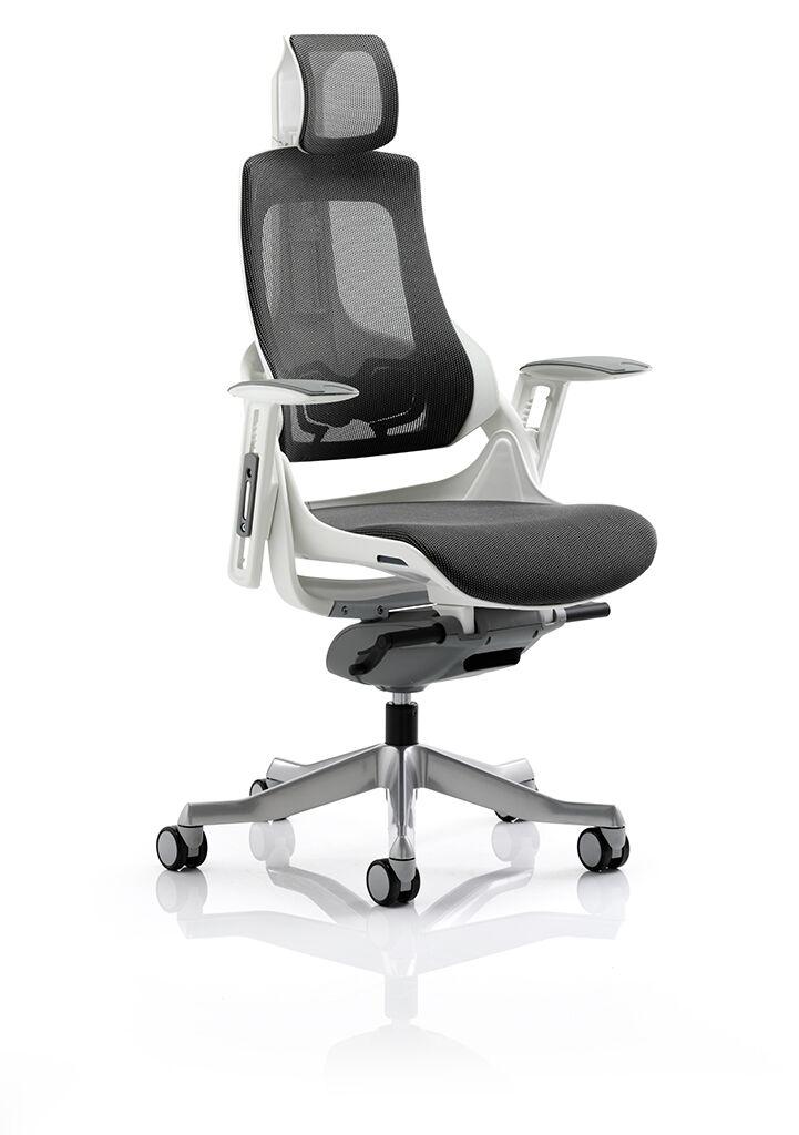 Storm Mk2 Designer Dark Grey Mesh, White Computer Chairs Uk