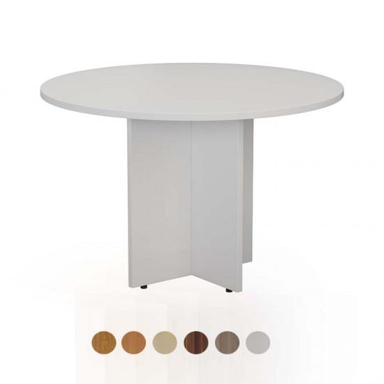 1.1m Round Meeting Table in Beech, Oak, Maple, White, Walnut