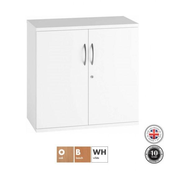 URBAN 2 Door Low Storage Cupboard with 1 Shelf  - 800mm