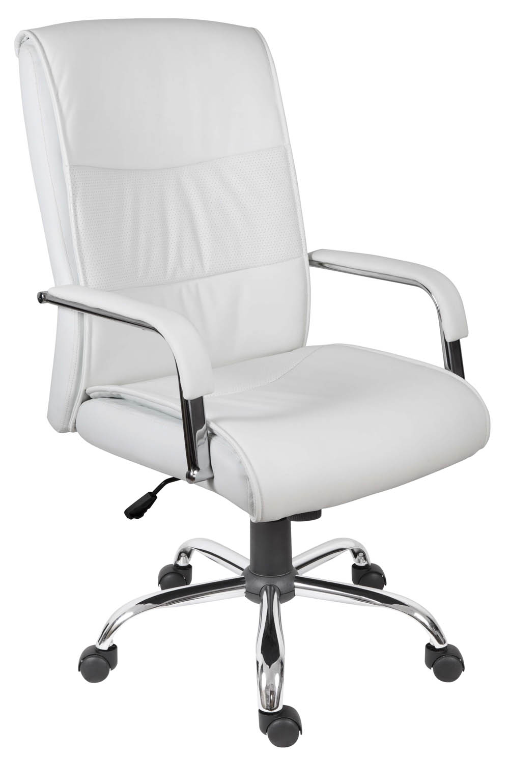 Vermont White High Back Executive, White Leather Computer Chairs